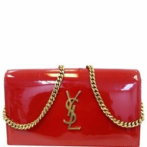 YVES SAINT LAURENT Patent Leather Crossbody Bag